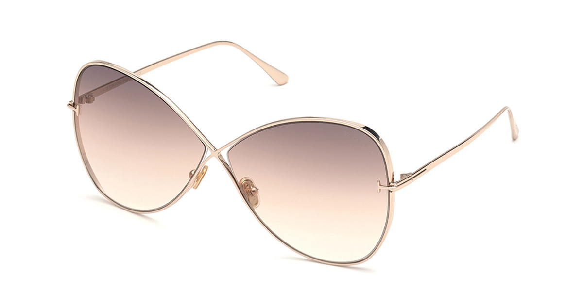 Tom Ford FT0842 NICKIE 28F Women's Sunglasses Gold Size 66