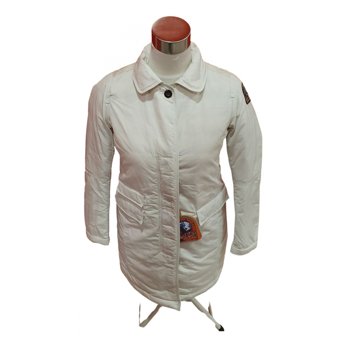 Parajumpers \N Lederjacke in  Weiss Polyester