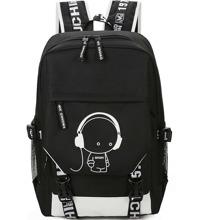 Men Luminous Cartoon Print Backpack