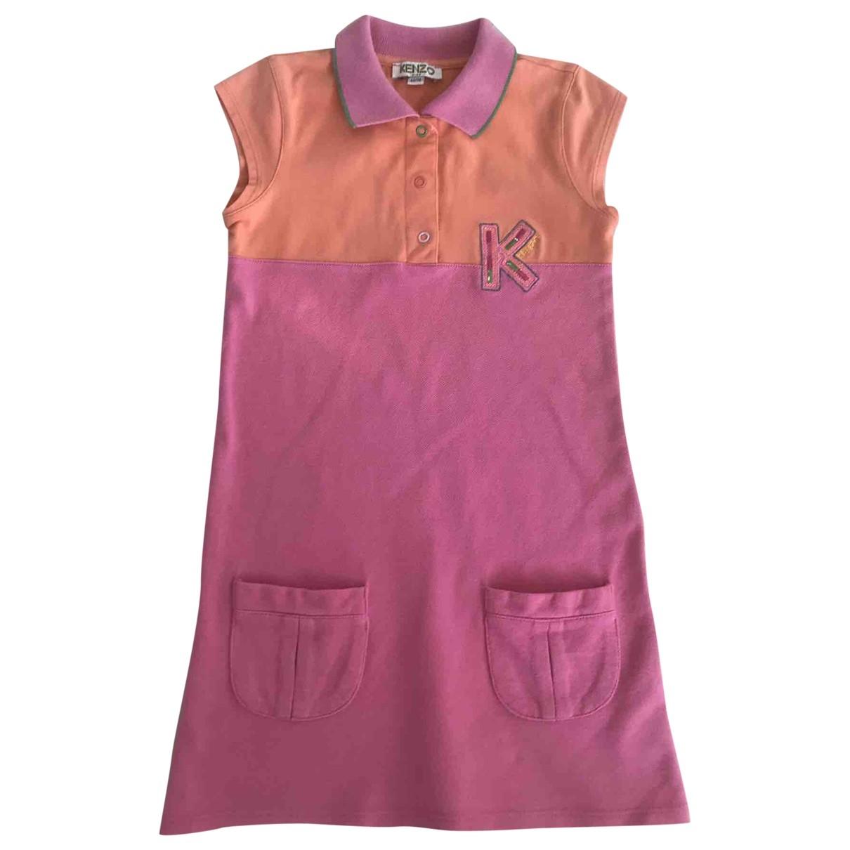 Kenzo - Robe    pour enfant en coton - rose