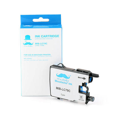 Compatible Brother MFC-J6910DW Cyan Ink Cartridge by Moustache, Extra High Yield