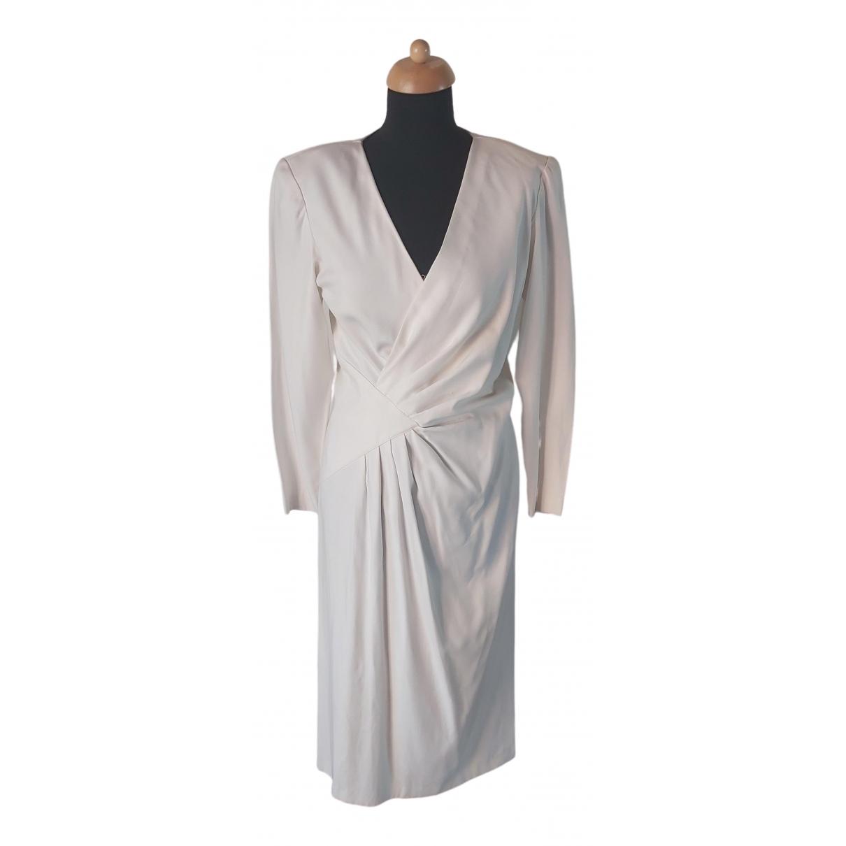 Non Signe / Unsigned \N Kleid in  Ecru Viskose
