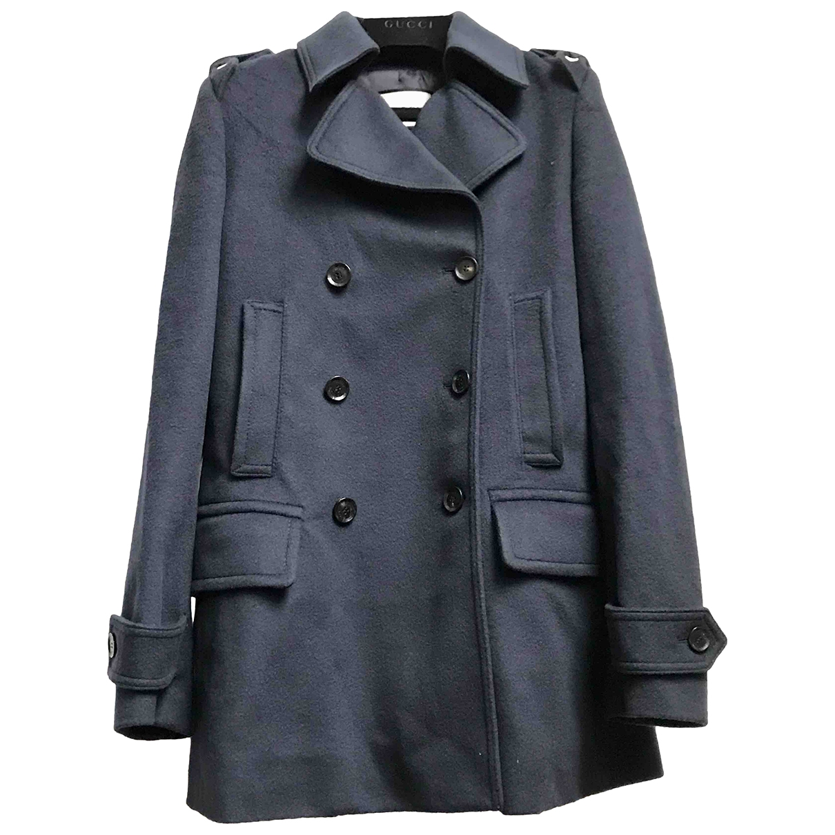 Gucci - Manteau   pour femme en laine - marine