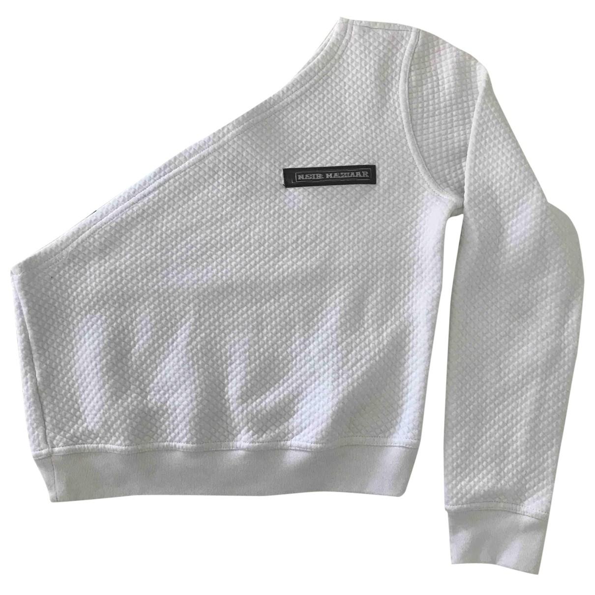 Nasir Mahzar - Pull   pour femme en coton - blanc
