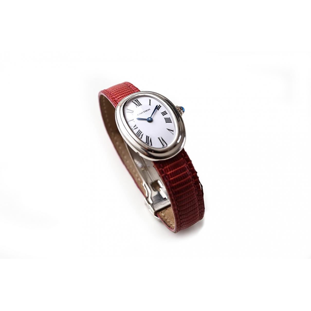 Cartier Baignoire Uhr in  Silber Weissgold