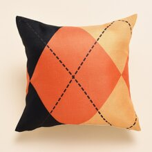 Halloween Geometric Pattern Cushion Cover Without Filler