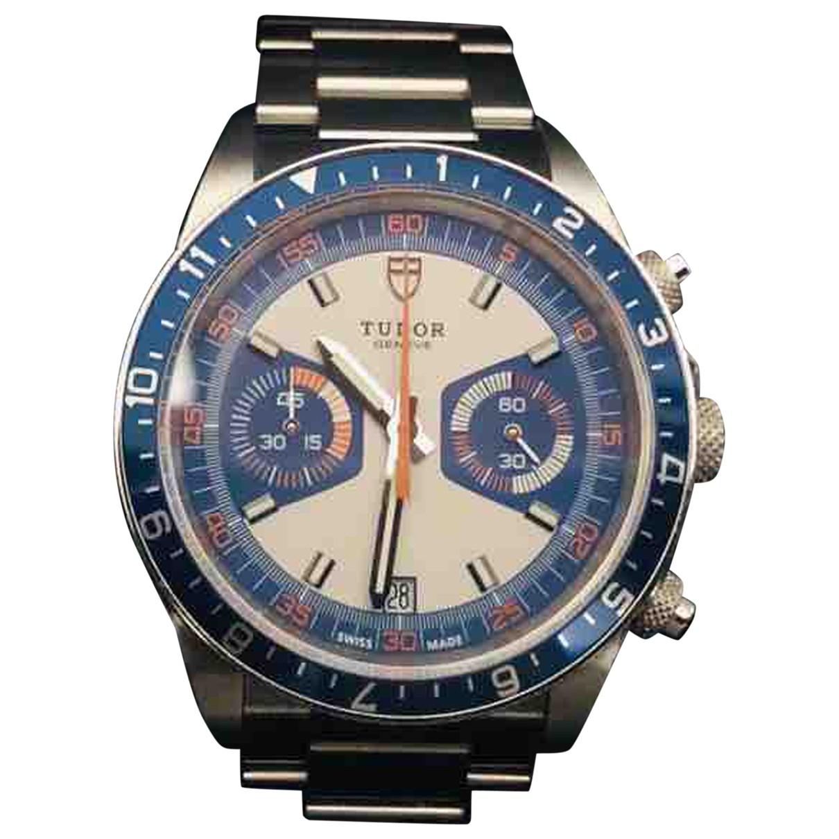 Tudor \N Silver Steel watch for Men \N