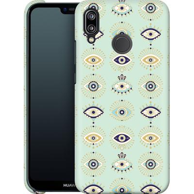 Huawei P20 Lite Smartphone Huelle - Evil Eyes Mint von Cat Coquillette