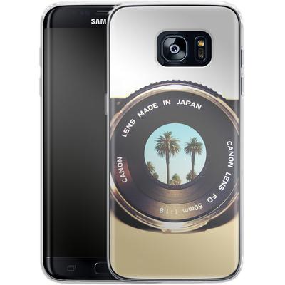 Samsung Galaxy S7 Edge Silikon Handyhuelle - Focus On Palms von Bianca Green