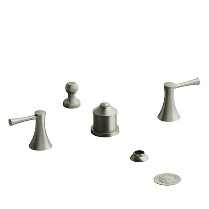 Edge ED09LBN 4-Piece Bidet Faucet with Integrated Vacuum Breaker and Lever Handles  in Brushed