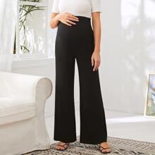 Maternity Wide Leg Solid Pants