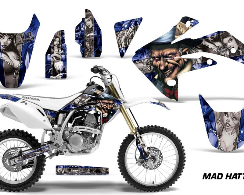 AMR Racing Dirt Bike Graphics Kit Decal Sticker Wrap For Honda CRF150R 2007-2016áHATTER SILVER BLUE