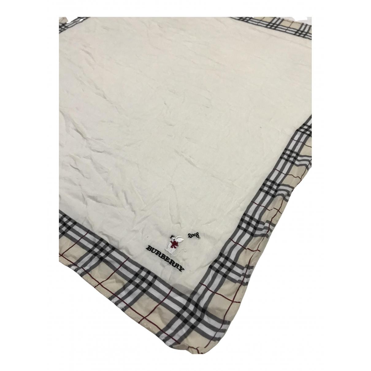 Burberry - Carre   pour femme en coton - blanc