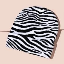 1 Stueck Muetze mit Zebra Muster