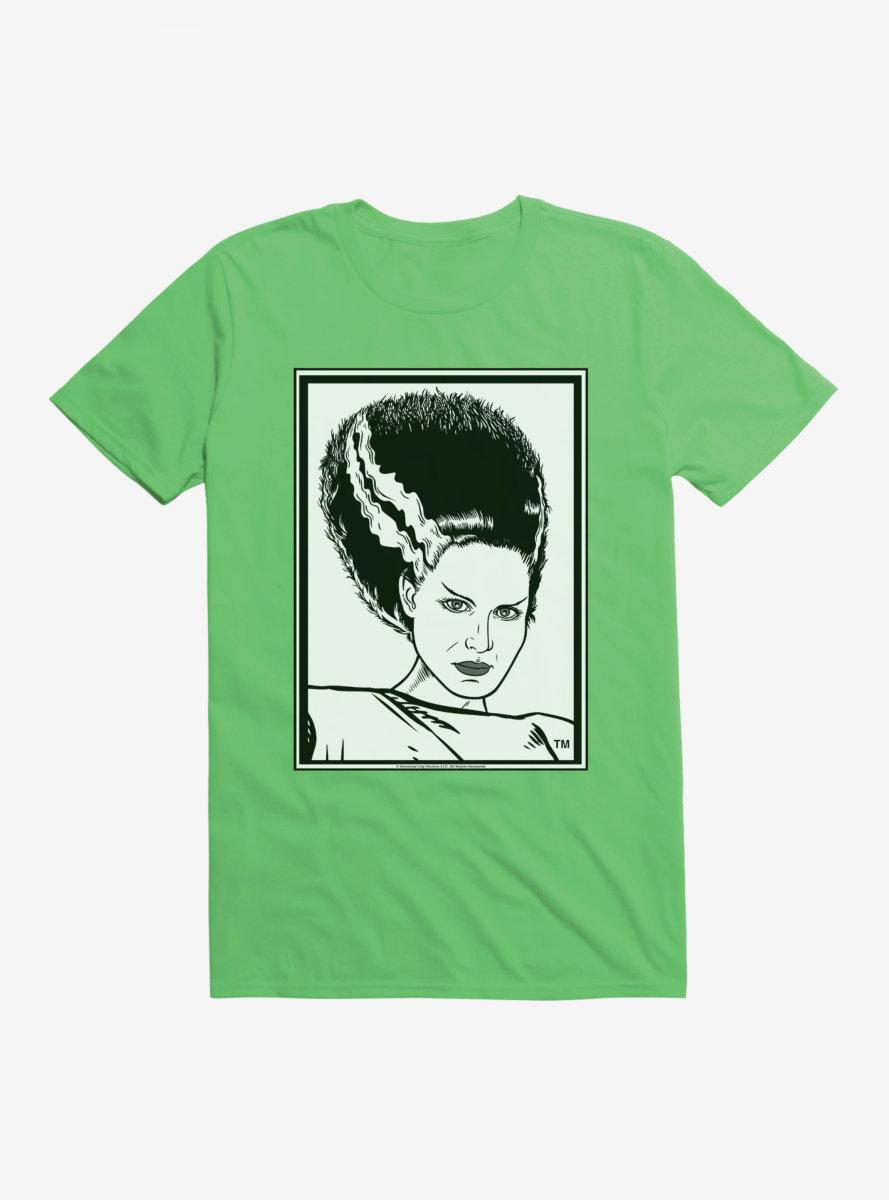 Universal Monsters Bride Of Frankenstein Outline Art T-Shirt