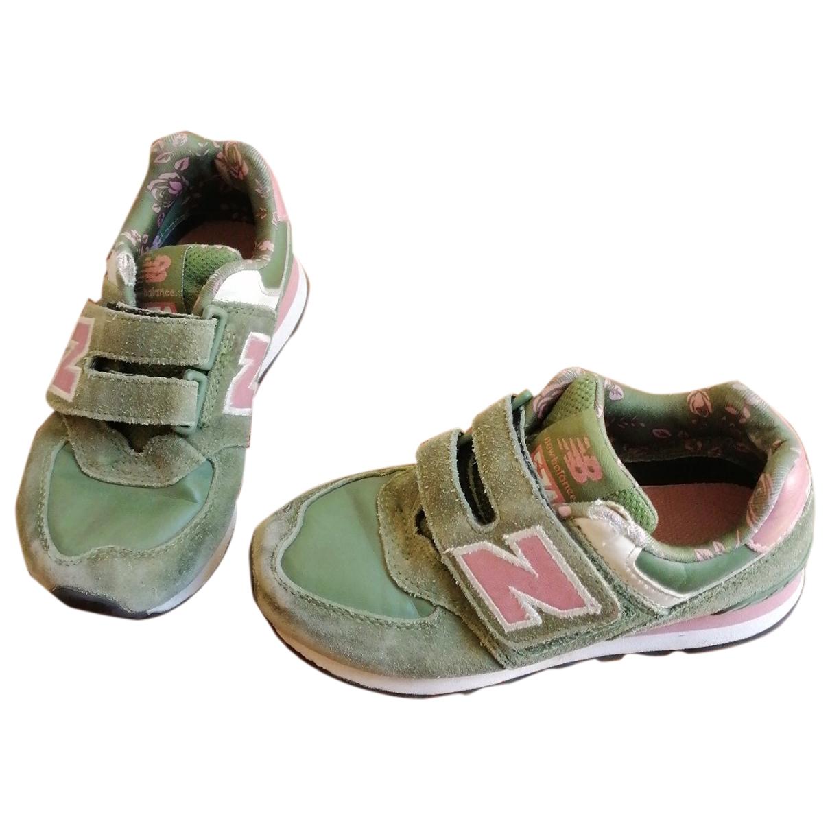 New Balance - Baskets   pour enfant en suede - vert