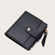 Snap Button Bifold Purse