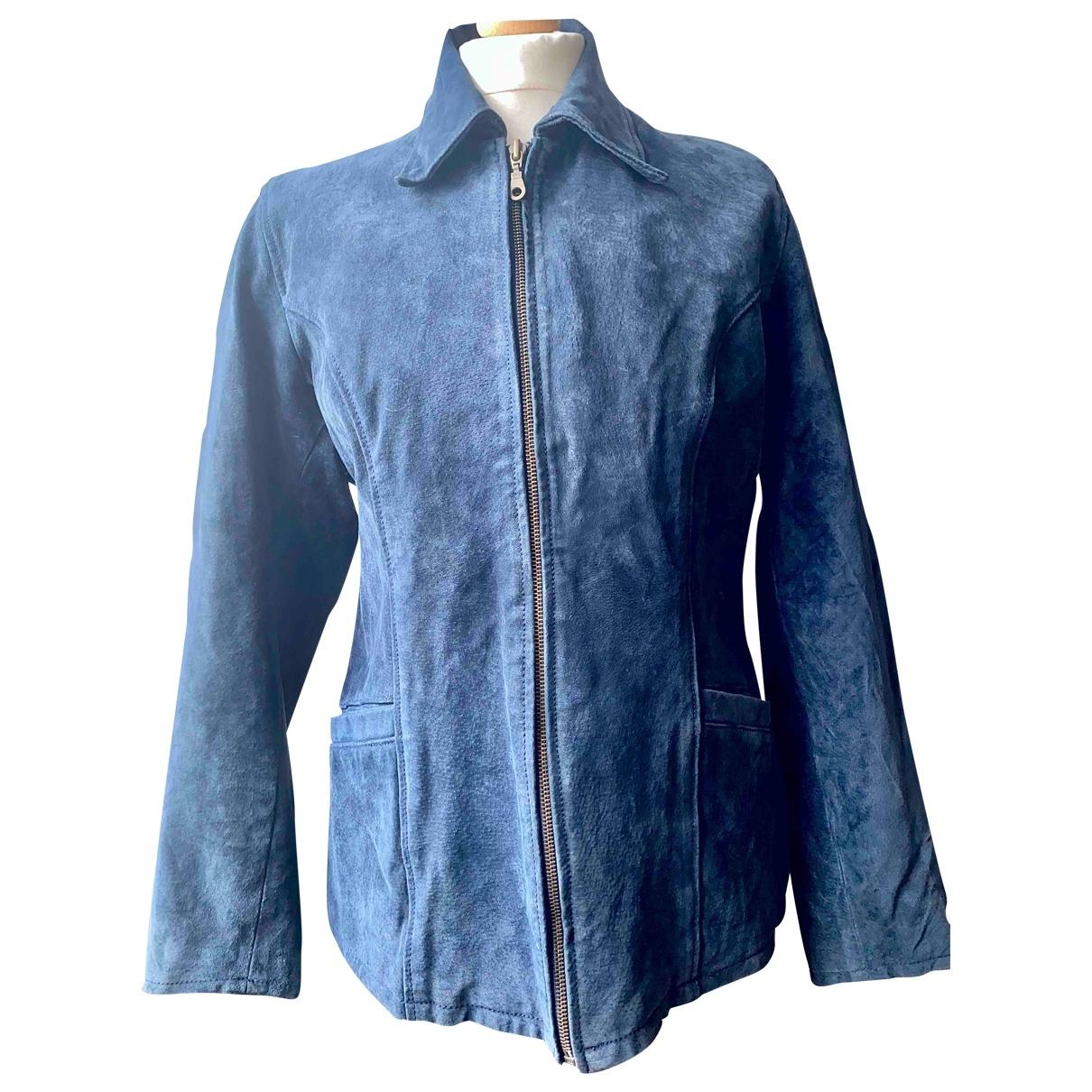 Adored Vintage \N Navy Suede jacket for Women 40 FR