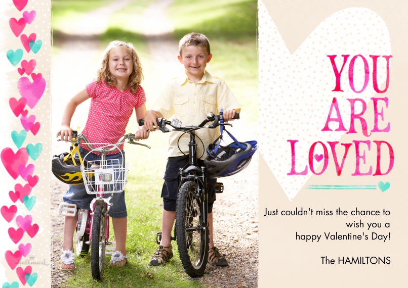 Valentine's Day Cards 5x7 Cards, Premium Cardstock 120lb with Rounded Corners, Card & Stationery -You Are Loved