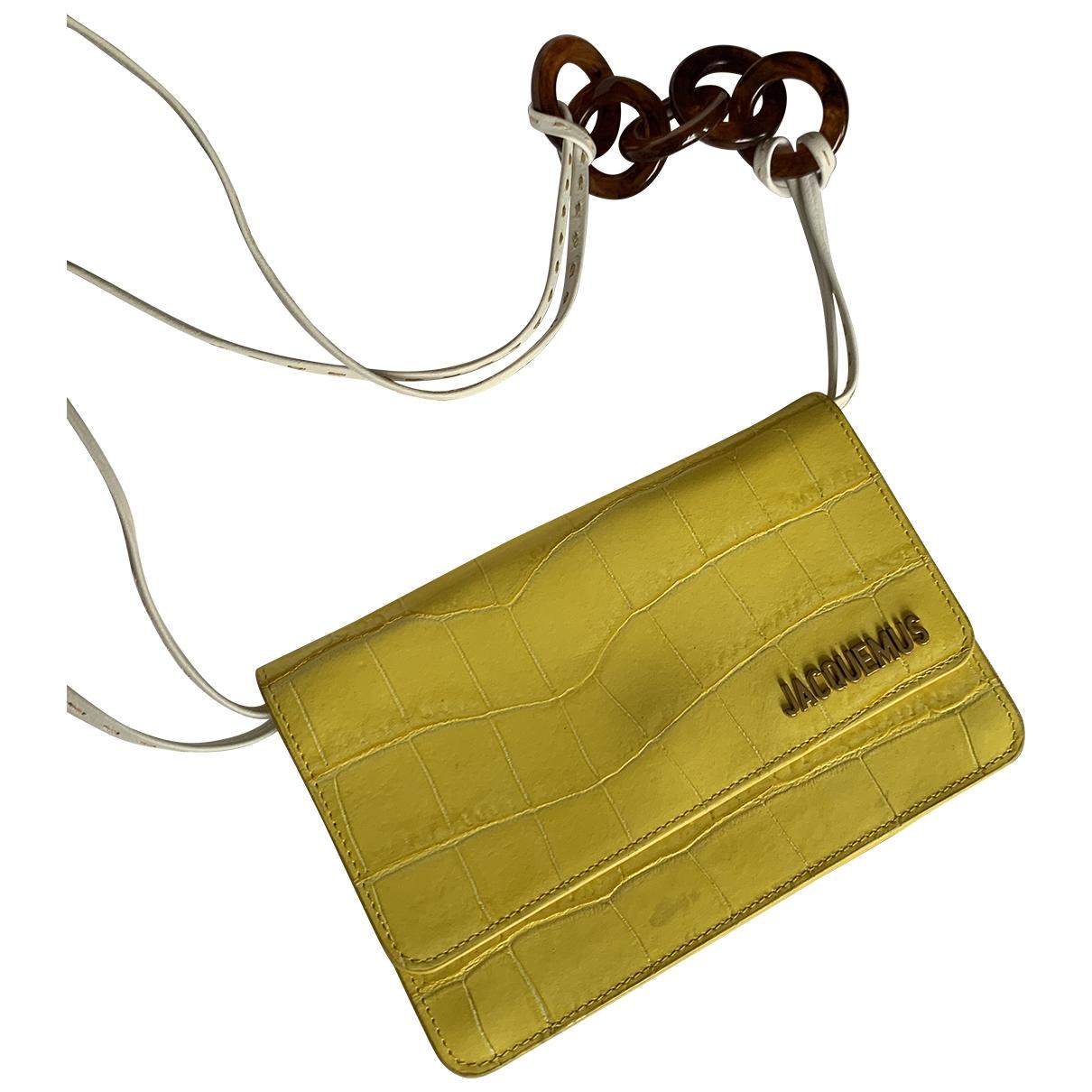 Jacquemus Le Riviera Handtasche in  Gelb Leder