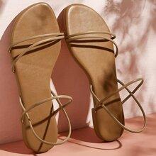 Sandalen mit offener Zehenpartie und Riemen