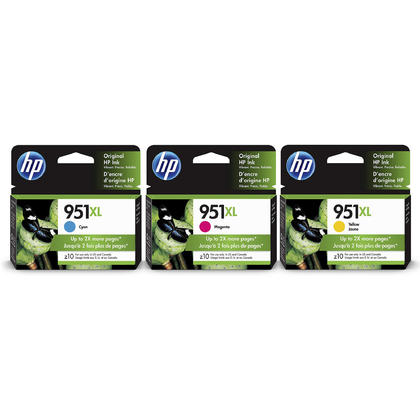HP 951XL CR318BN CN046AN CN047AN CN048AN Original Ink Cartridge Combo High Yield C/M/Y