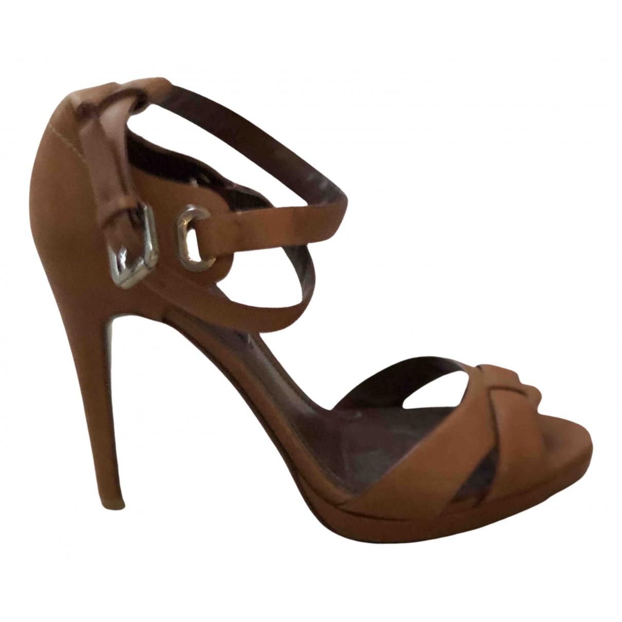 Ralph Lauren Collection - Sandales   pour femme en cuir - marron
