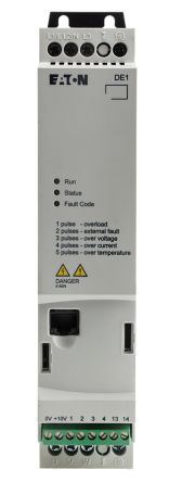 Eaton Variable Speed Starter, 3-Phase In, 60Hz Out 1.5 kW, 480 V ac, 3.6 A DE11
