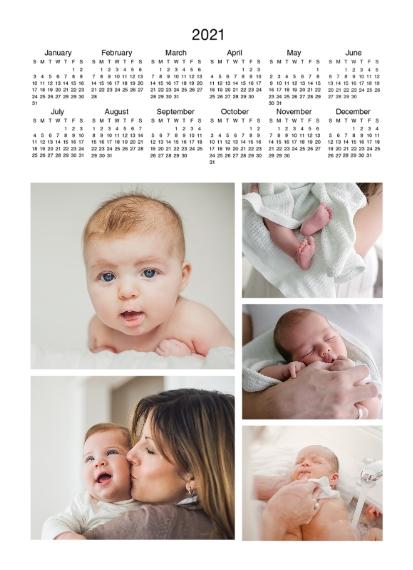 Calendar 5x7 Metal Easel Panel, Home Décor -2021 Calendar Top