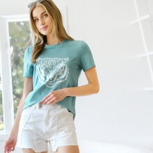 T-Shirt mit Tiger Muster