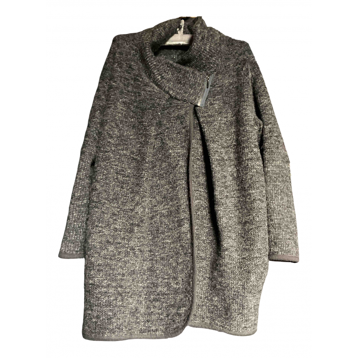 Non Signé / Unsigned Oversize Grey Wool coat for Women One Size International