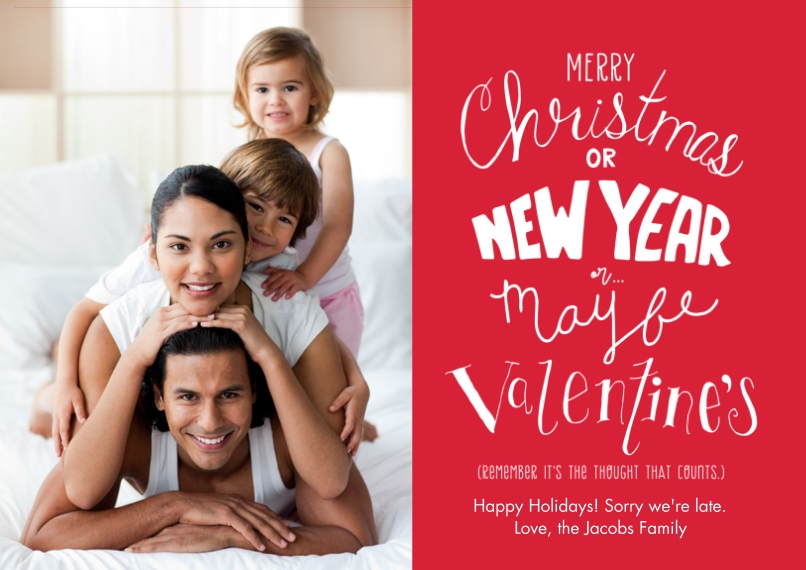 Christmas Photo Cards Flat Matte Photo Paper Cards with Envelopes, 5x7, Card & Stationery -It's The Thought