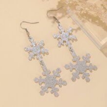 Weihnachten Ohrringe mit Schneeflocke Dekor