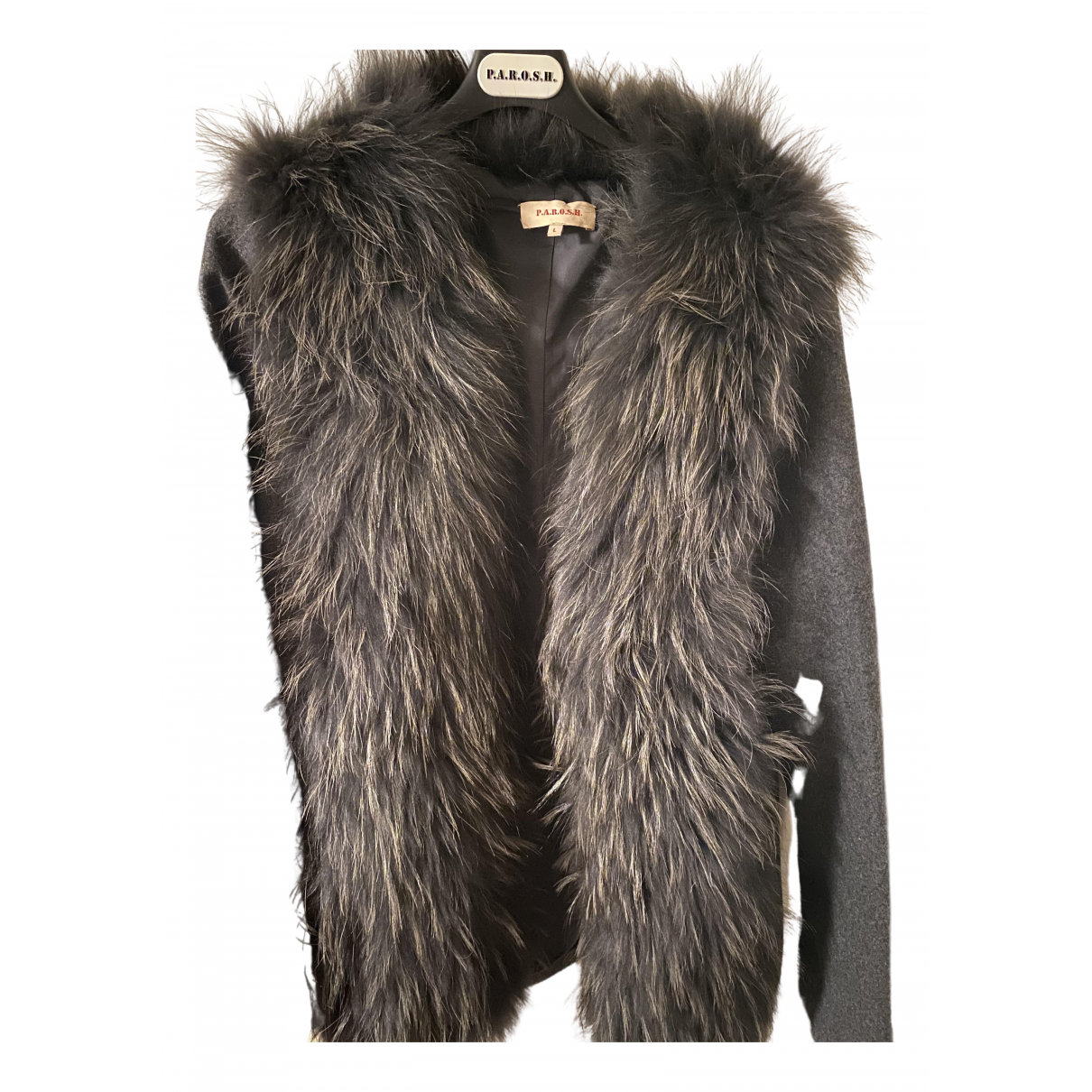 Parosh - Veste   pour femme en laine - gris