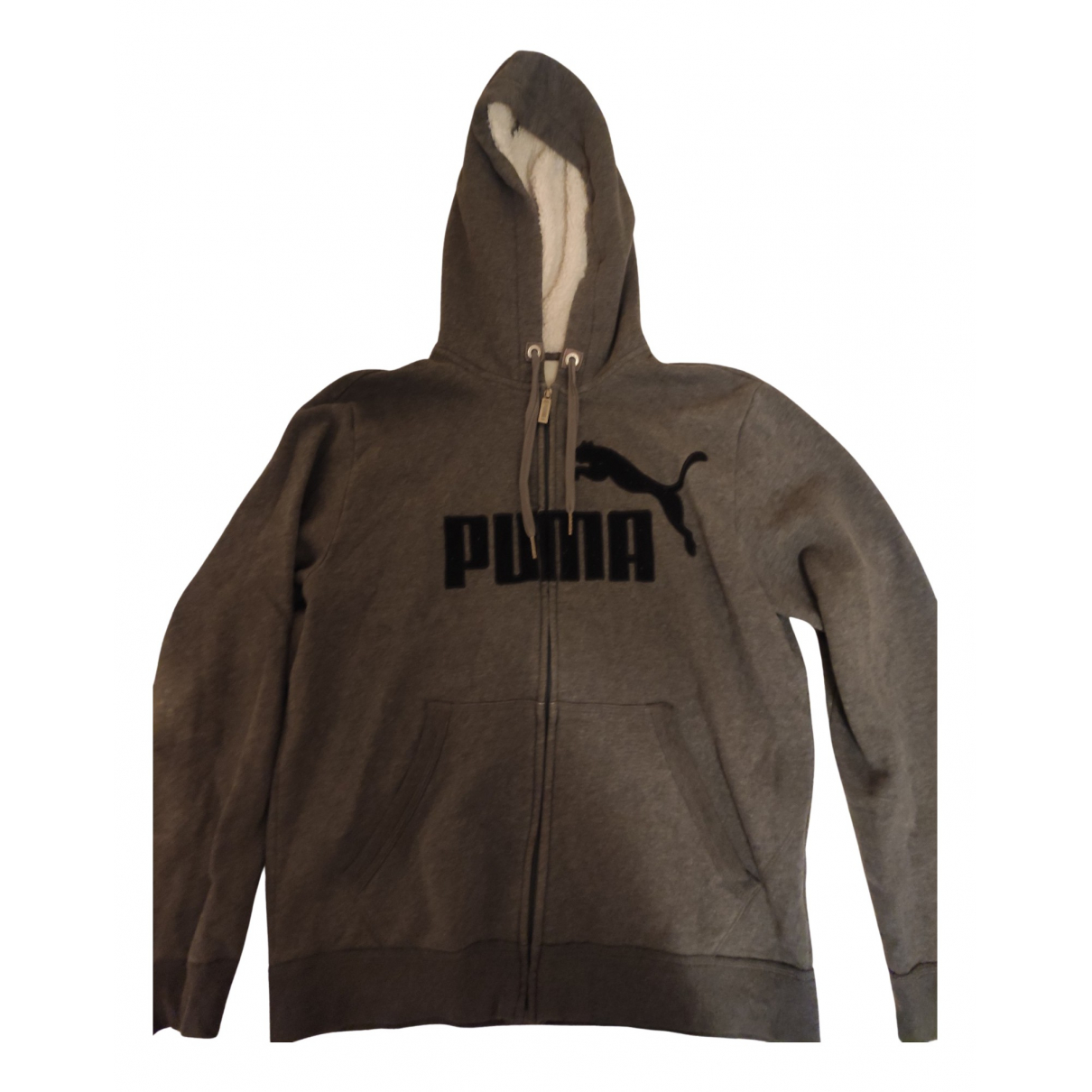 Puma N Grey Cotton jacket  for Men M International