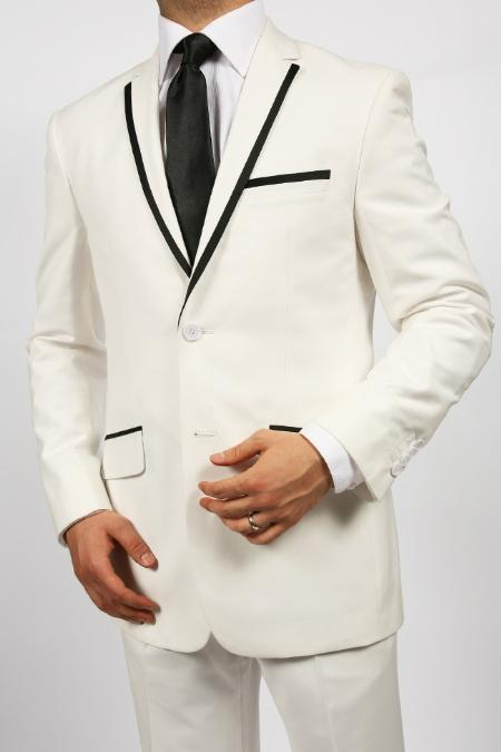 2 Button Tuxedos Shiny Sharkskin Two Tone Suit