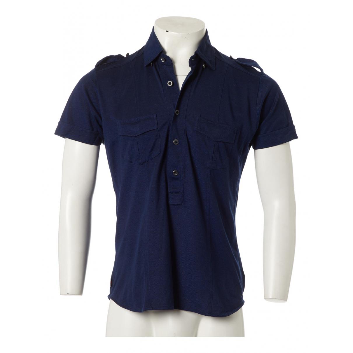 Gucci - Polos   pour homme en coton - bleu