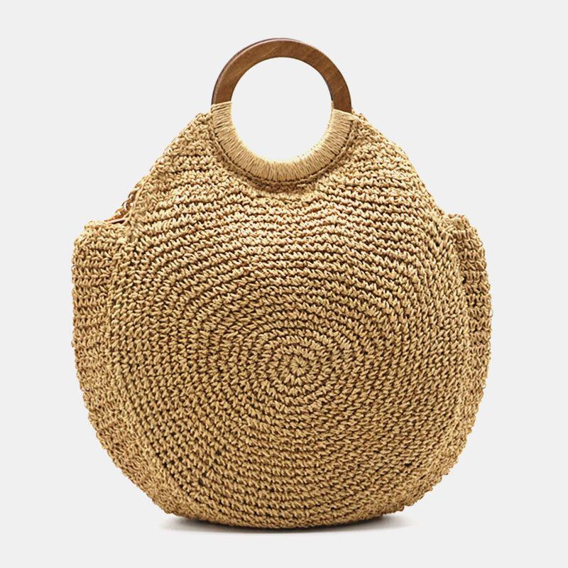 Women Travel Summer BeachLargeCapacity Straw Handbag Shoulder Bag