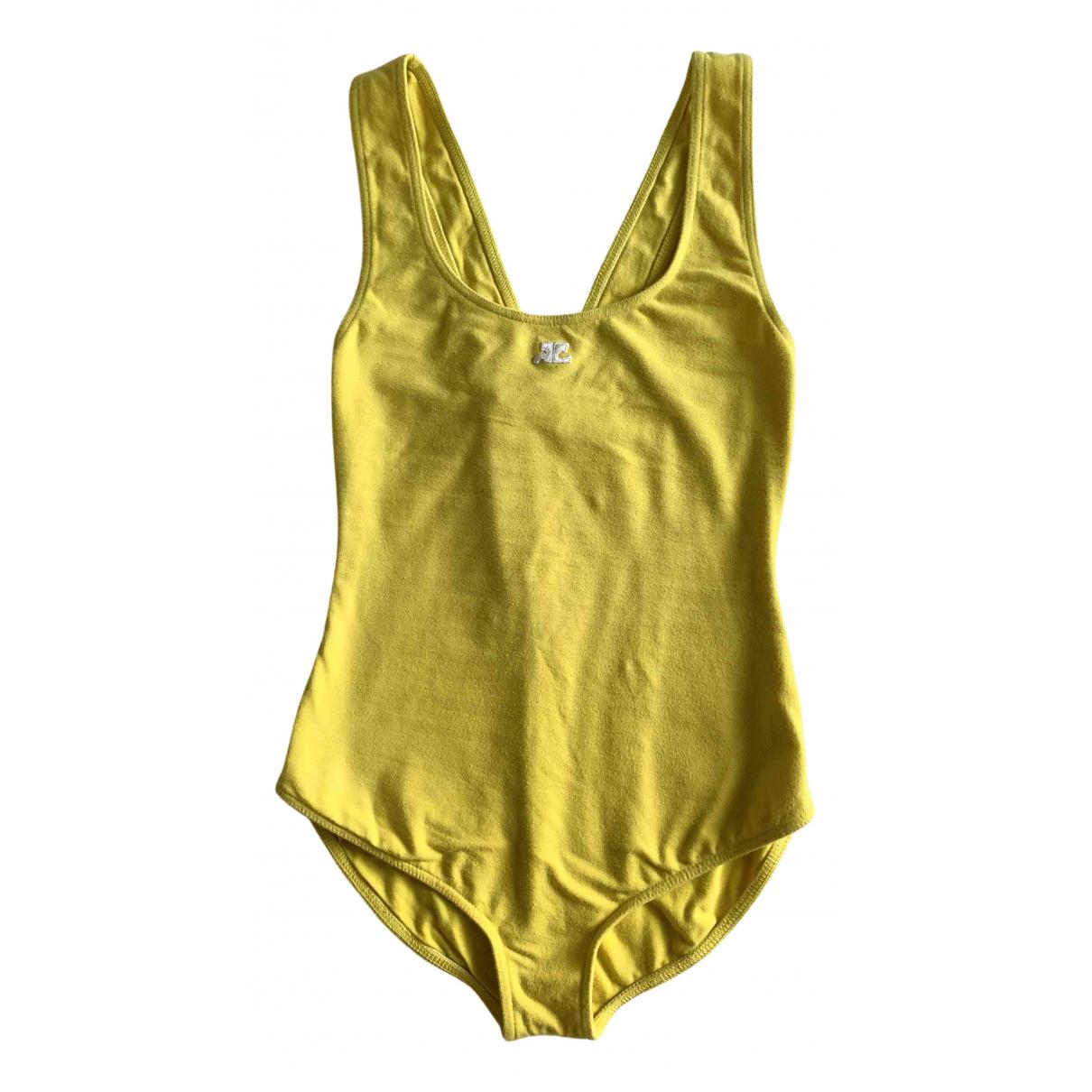 Courreges \N Badeanzug in  Gelb Baumwolle