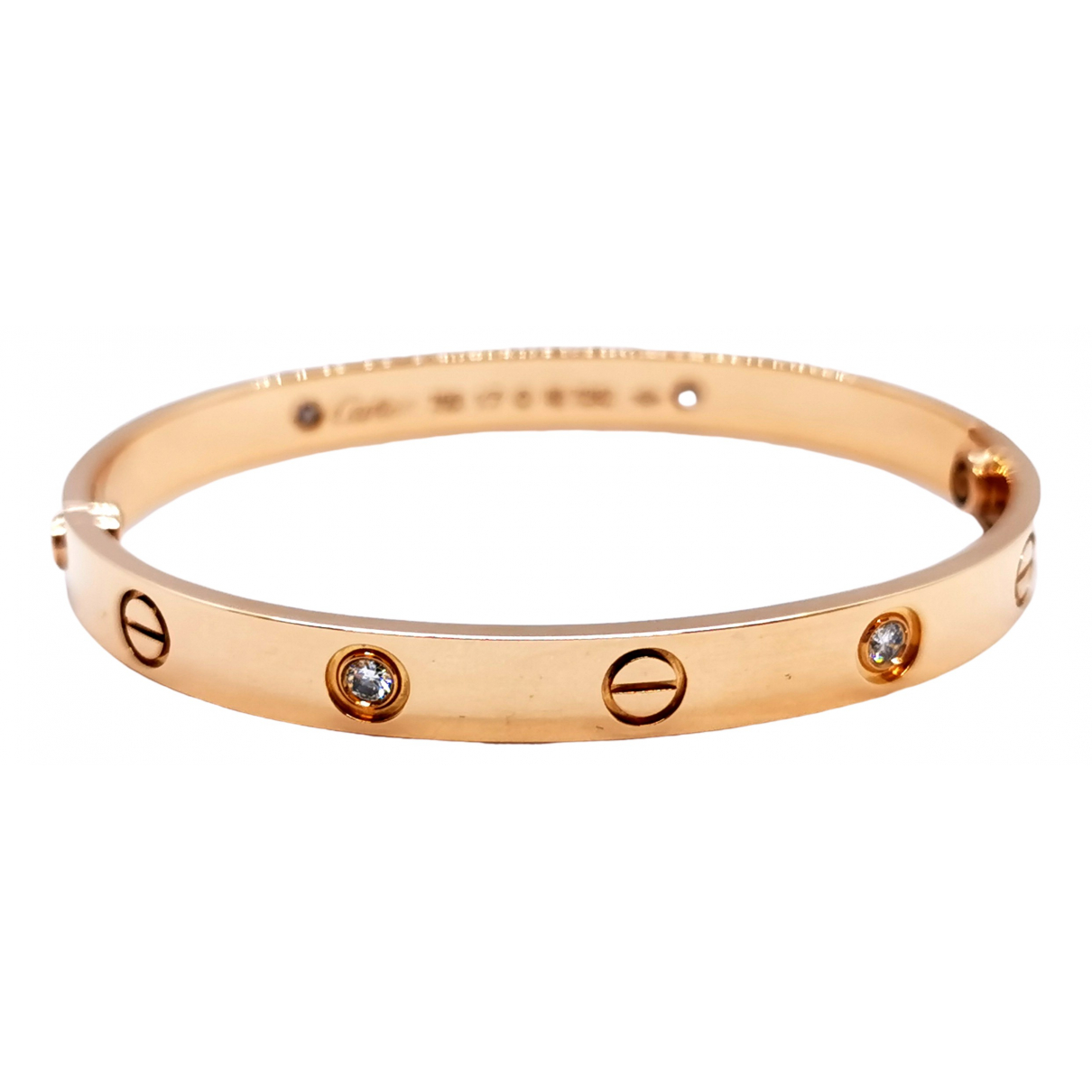 Cartier Love Armband in  Rosa Rosegold