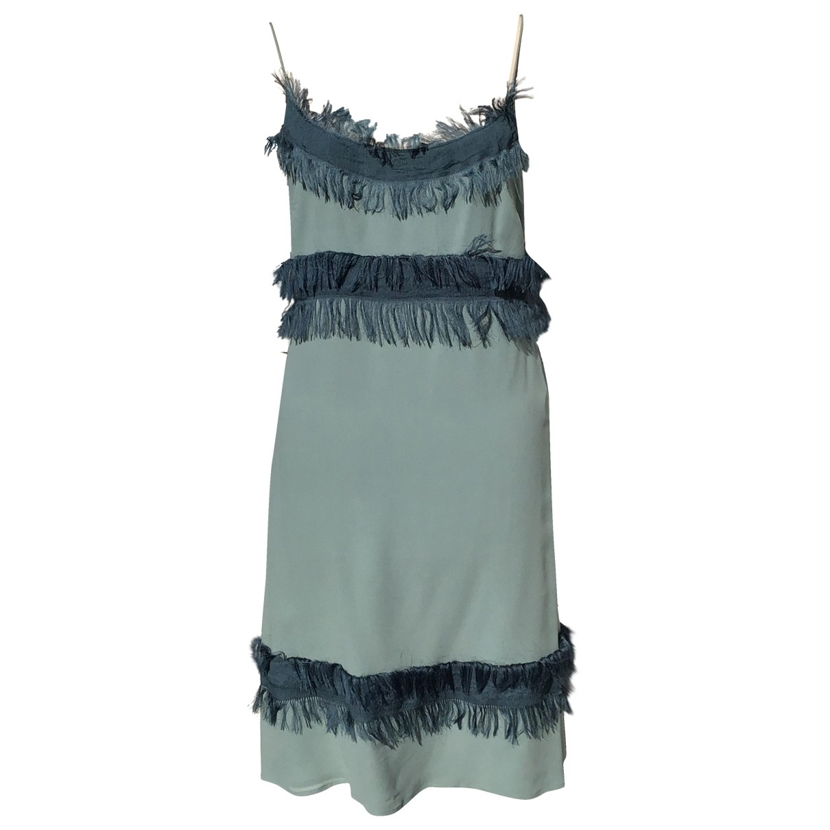 Non Signé / Unsigned \N Blue Silk dress for Women 40 IT
