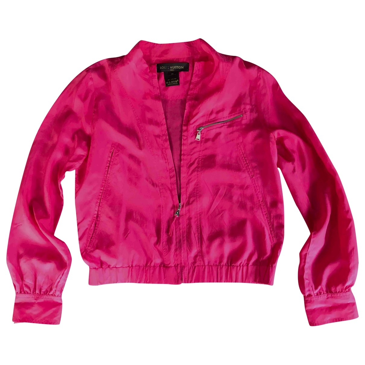 Louis Vuitton \N Pink Silk Leather jacket for Women 38 FR