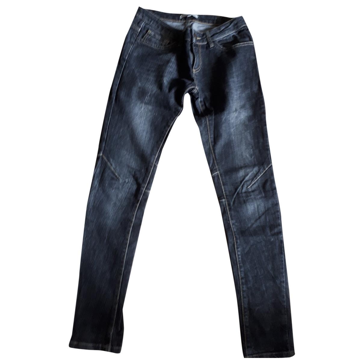 Maje \N Grey Denim - Jeans Trousers for Women 38 FR