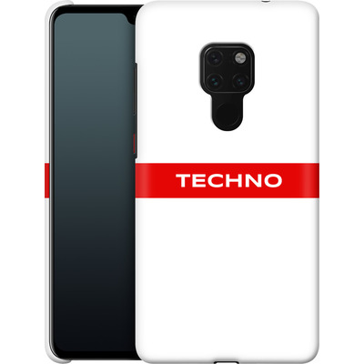 Huawei Mate 20 Smartphone Huelle - RED LINE von Berlin Techno Collective