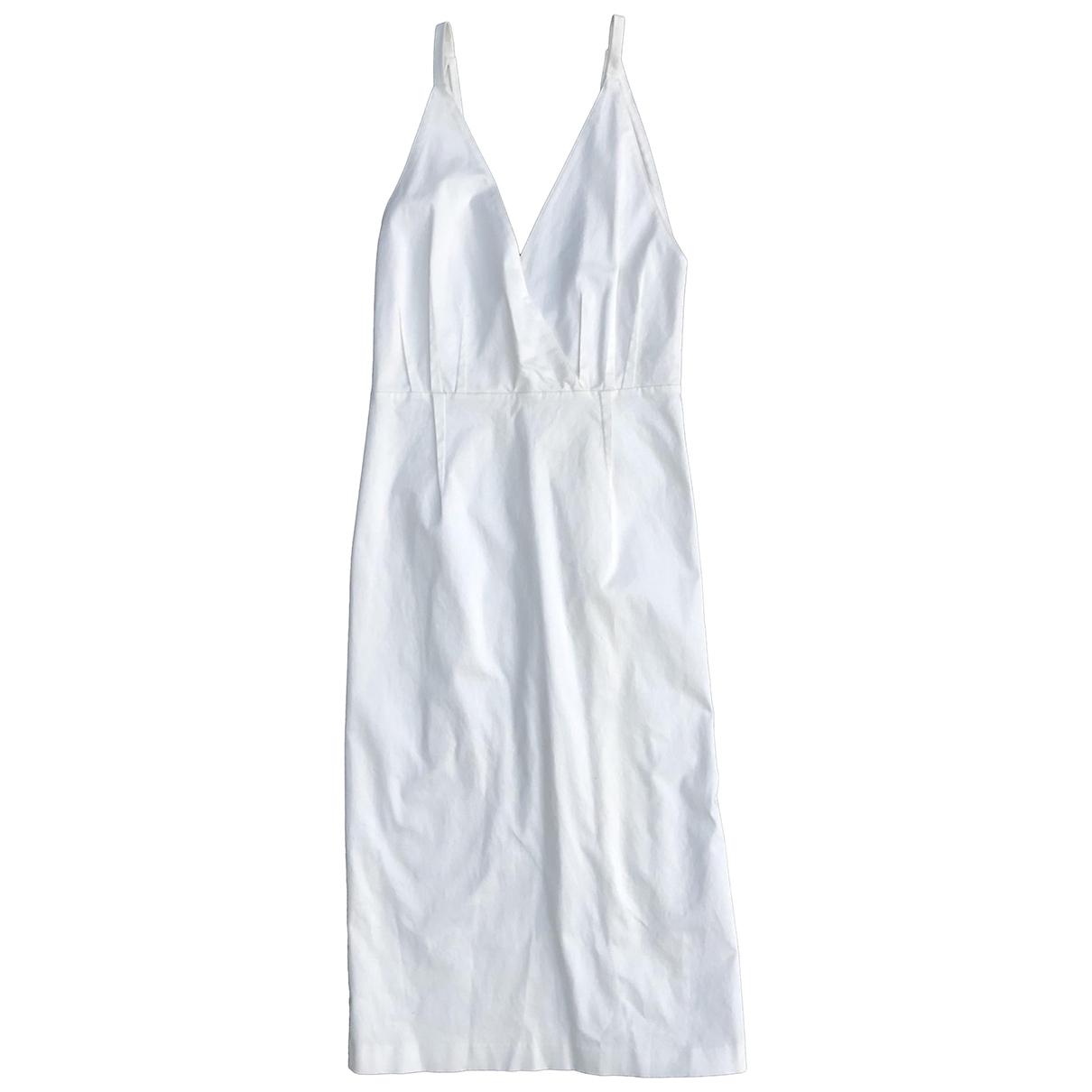 Tome \N Kleid in  Weiss Baumwolle - Elasthan