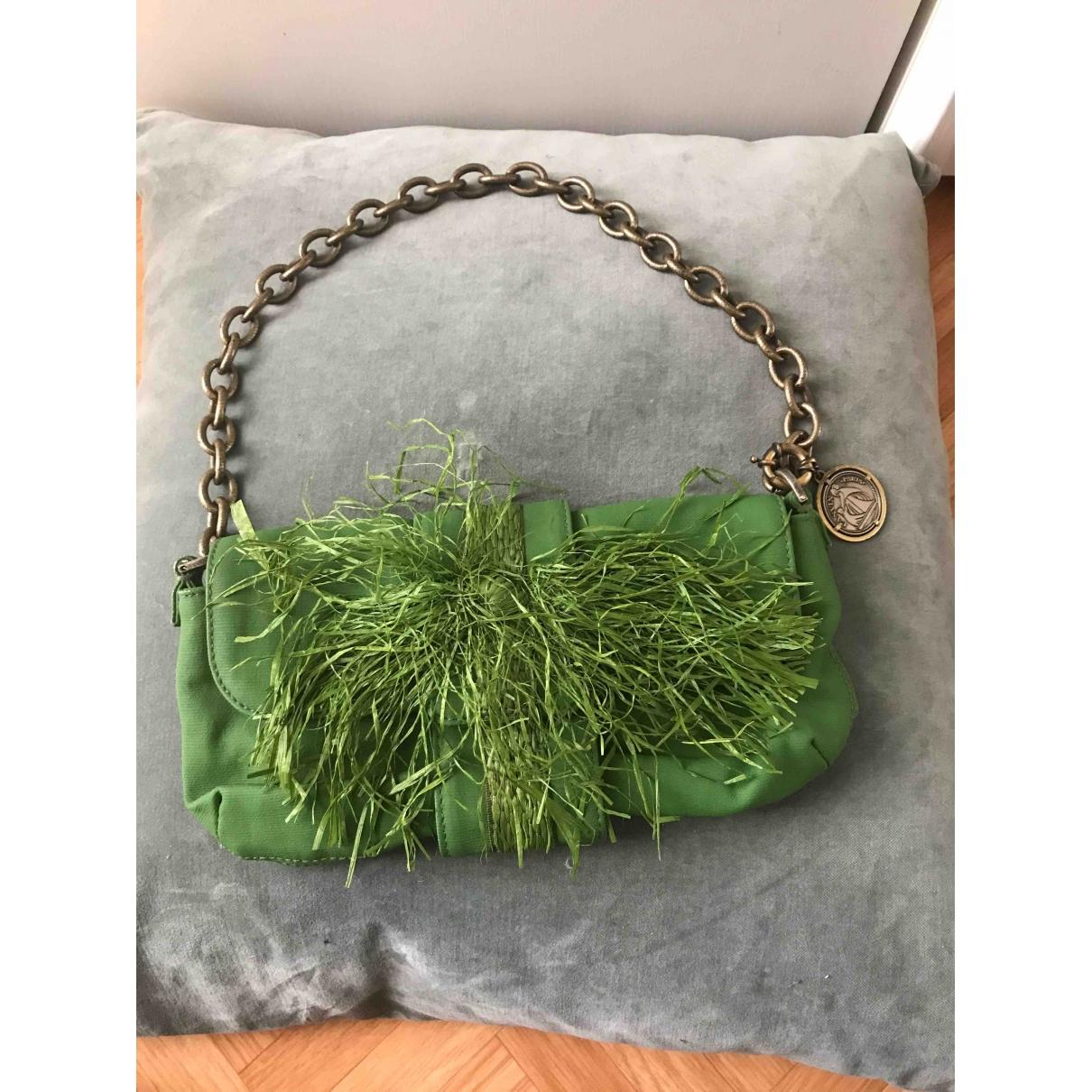 Lanvin - Pochette   pour femme en toile - vert