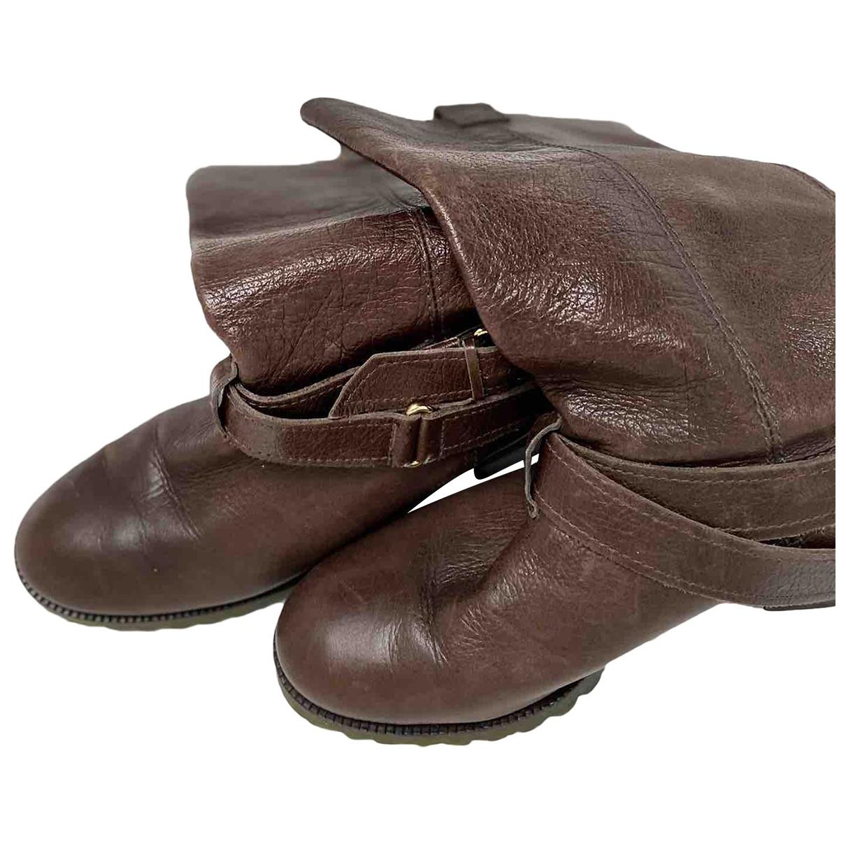 Diane Von Furstenberg \N Brown Leather Boots for Women 5 UK