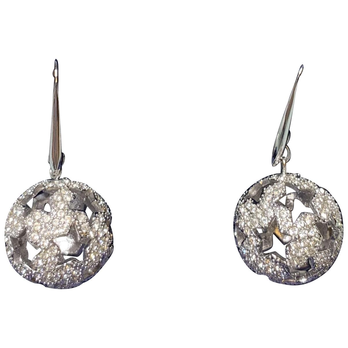 Swarovski - Boucles doreilles   pour femme en cristal - argente