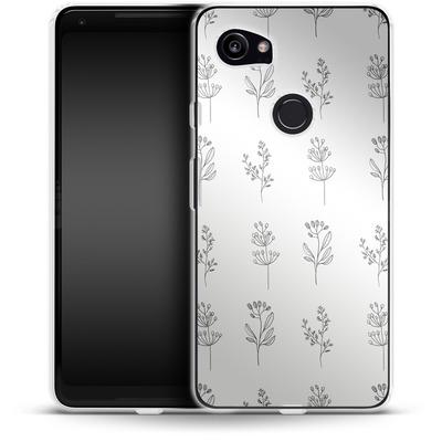 Google Pixel 2 XL Silikon Handyhuelle - Botanic Studies von Lucy Bohr