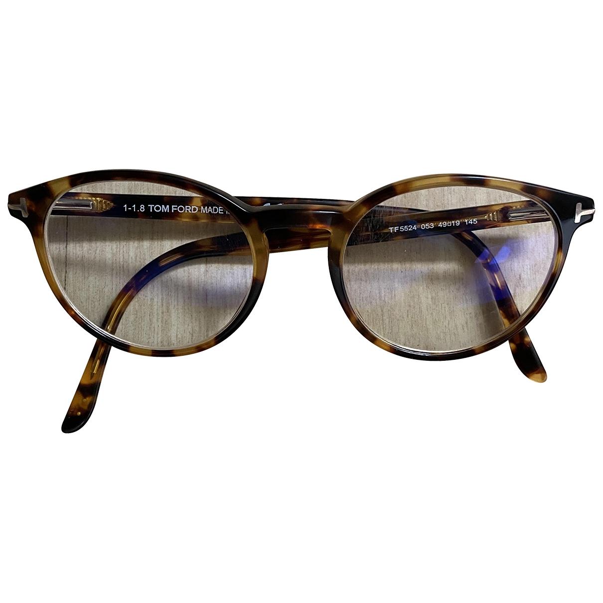 Tom Ford \N Sonnenbrillen in  Kamel Kunststoff